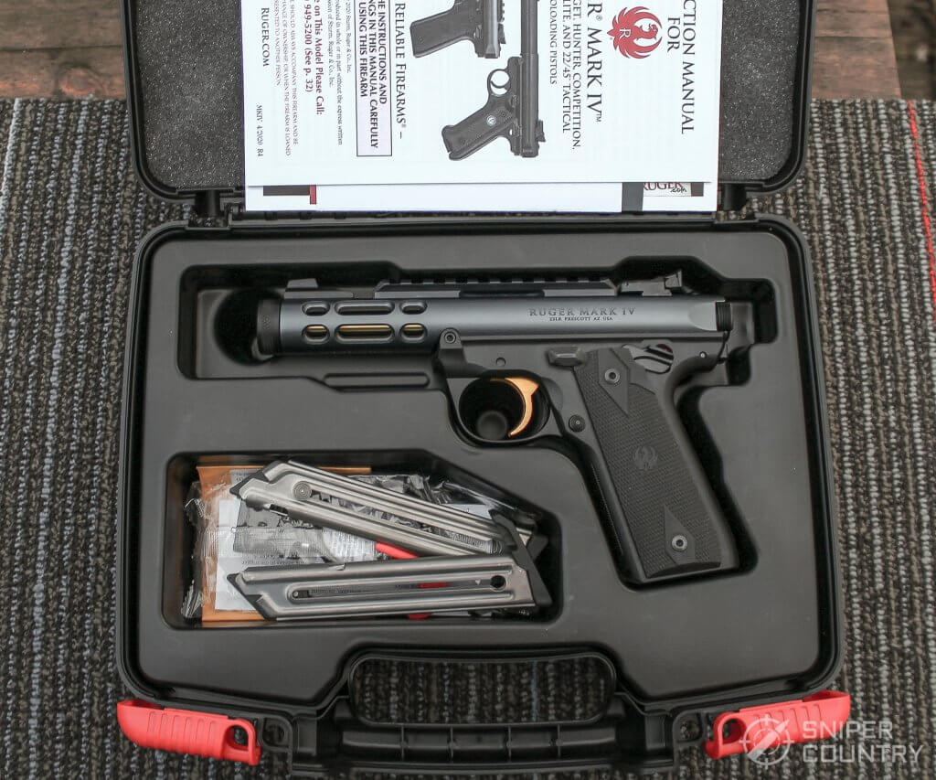 Ruger Mark IV Lite box contents