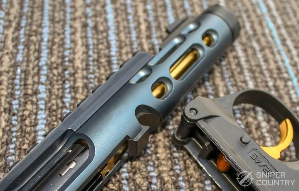 Ruger Mark IV Lite takedown latch