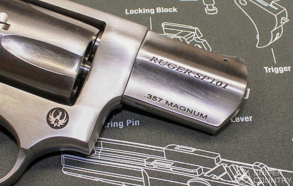 Ruger SP101 barrel engraving