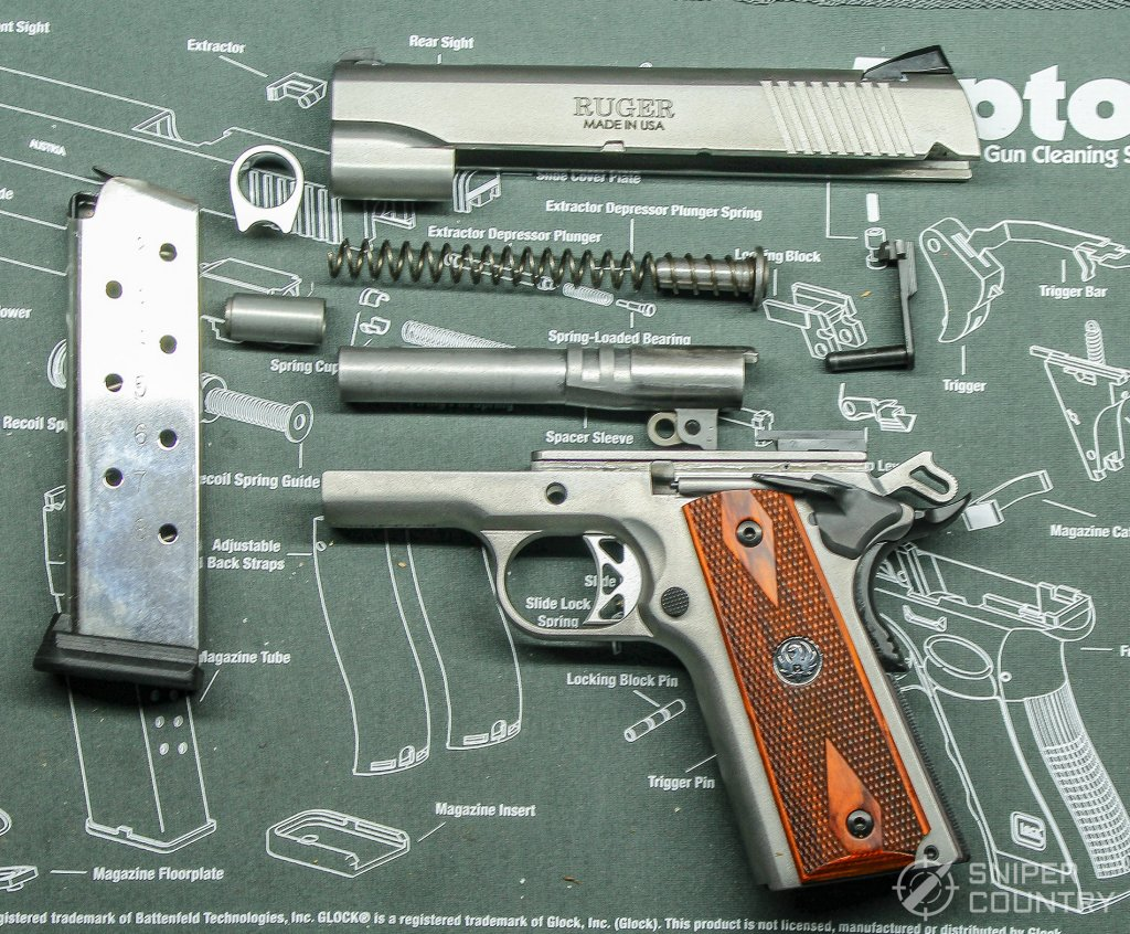 Ruger SR1911 field stripped