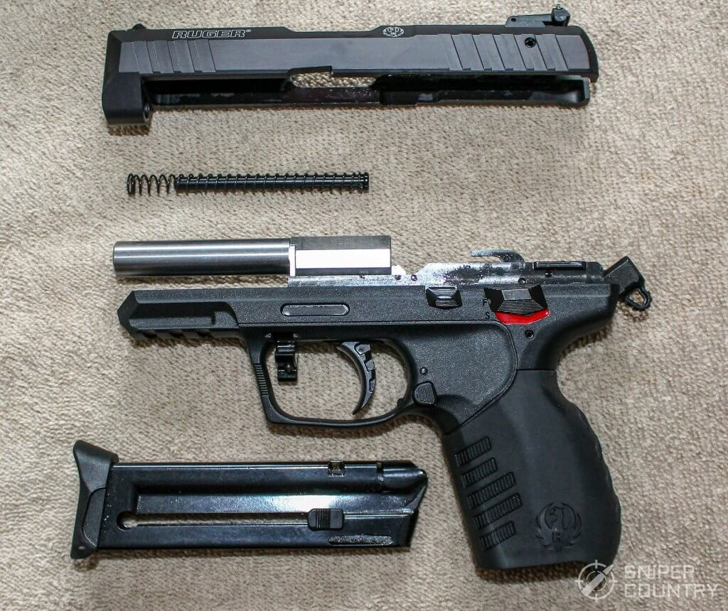 Ruger SR22 field stripped
