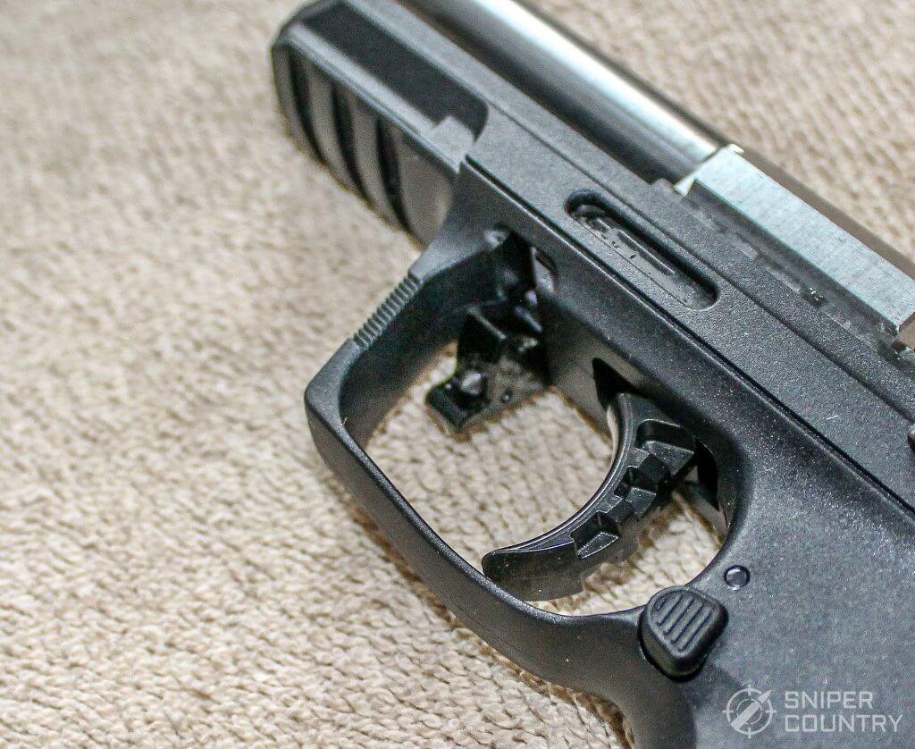 Ruger SR22 trigger takedown lever