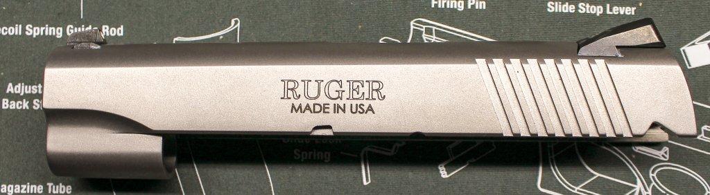 slide left side of the Ruger SR1911