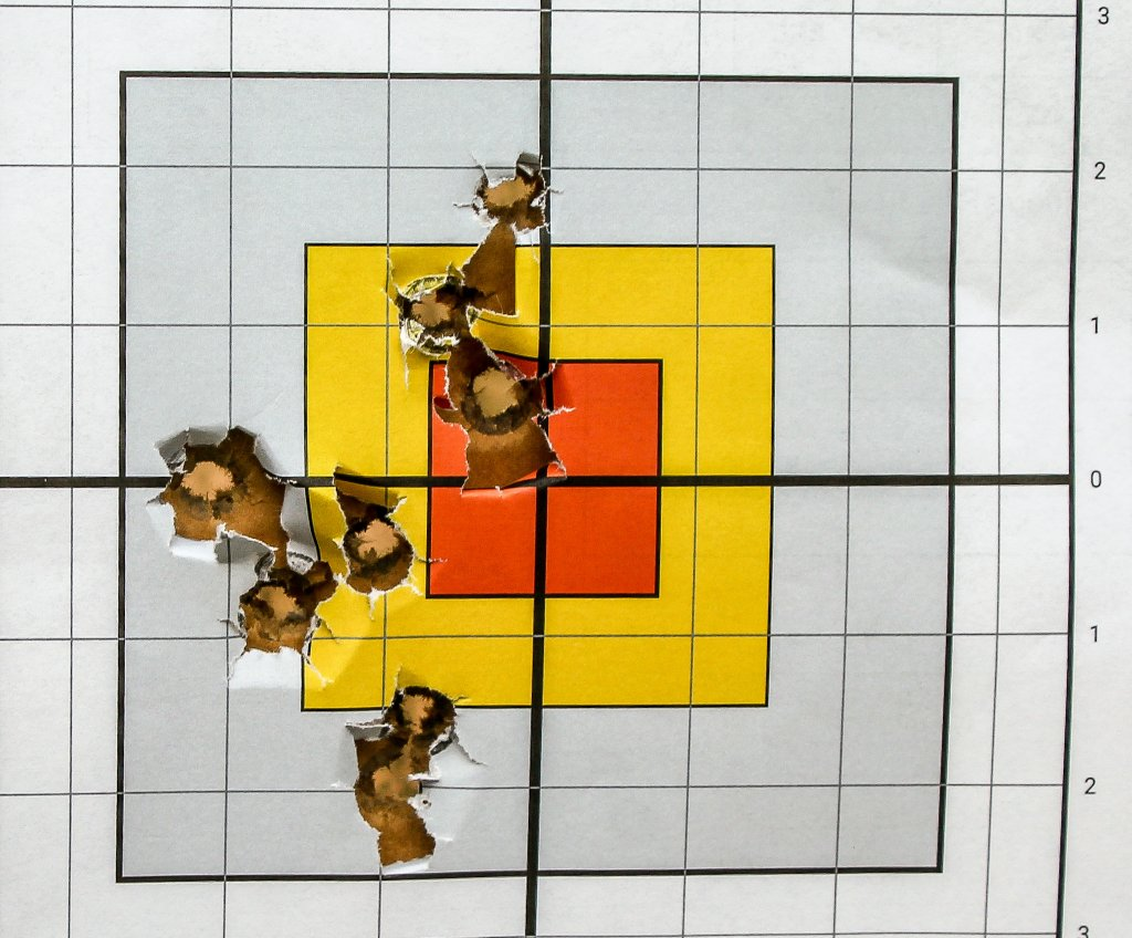 target shot with 200SWC