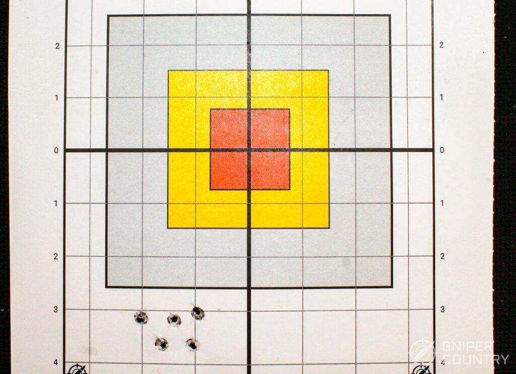 target shot with remington