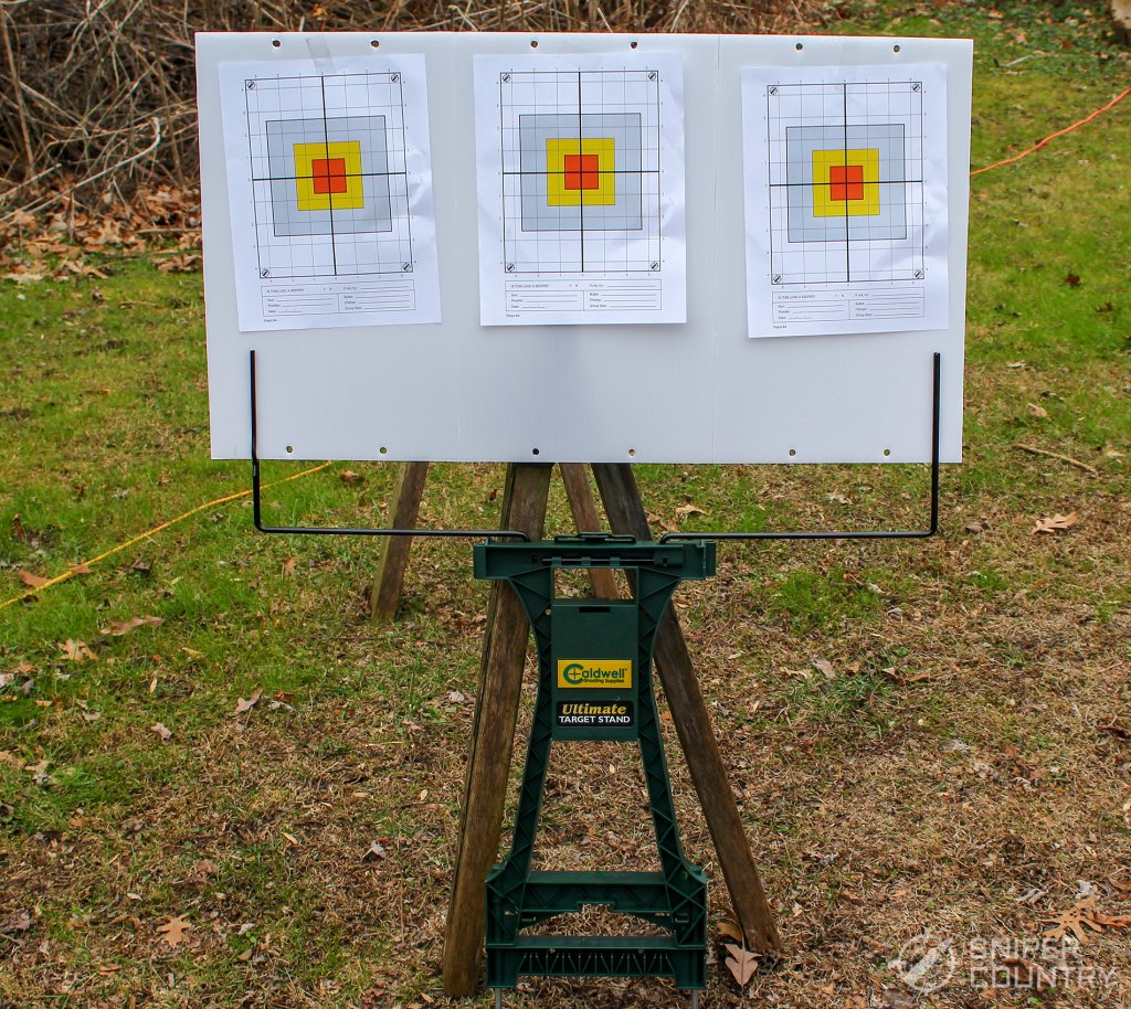 target stand with targets