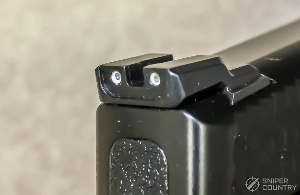 rear sight of the M&P Shield M2.0
