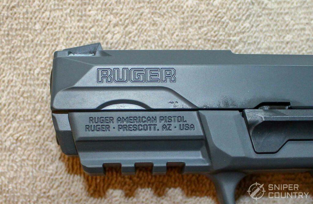 Ruger American .45 Pistol Slide Engraving