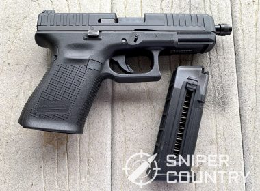 Glock 44 Gun right side with mag