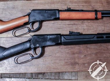 rossi 22 lever action rifle side by side
