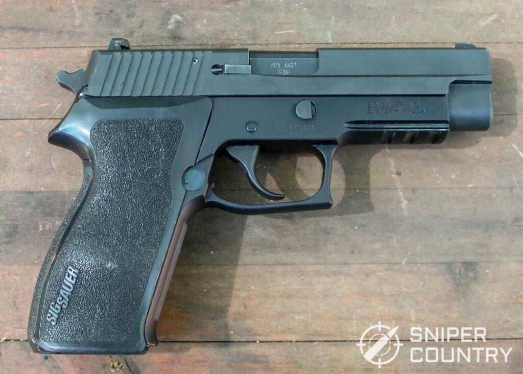 Sig P220 gun right shot
