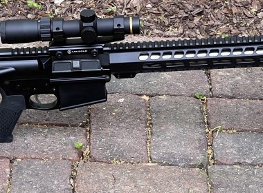 The Palmetto State Armory PA-10 cuts an attractive silhouette. It is shown here with a Leupold VX-Freedom 1.5-4x20 scope with an illuminated firedot MOA ring and a Magpul M-LOK Bipod.