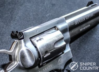 Close up shot of the Ruger GP100