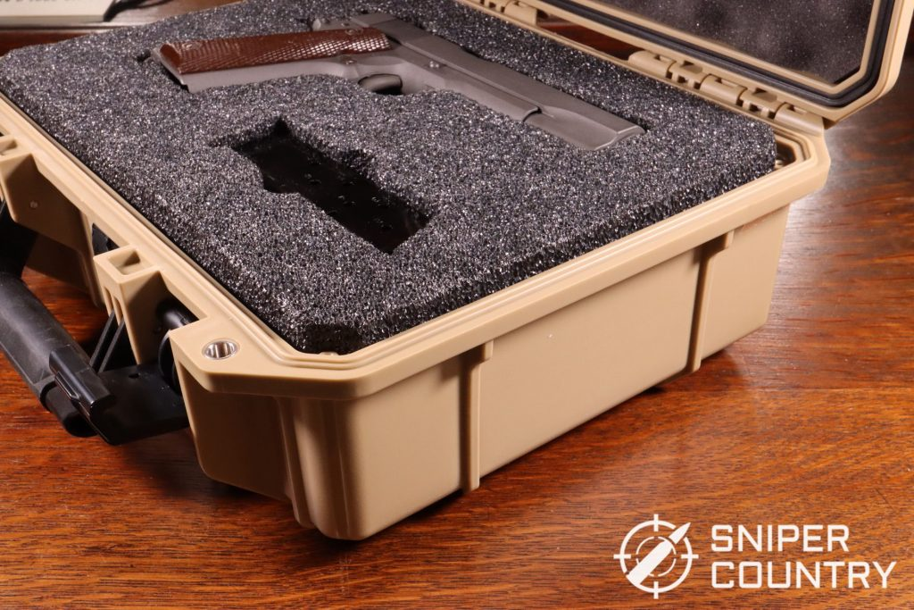 The CMP M1911 hard shell case. It's a thing of beauty and, with the addition of a padlock, could easily double as a TSA hard shell case for carrying a gun in checked-on baggage.