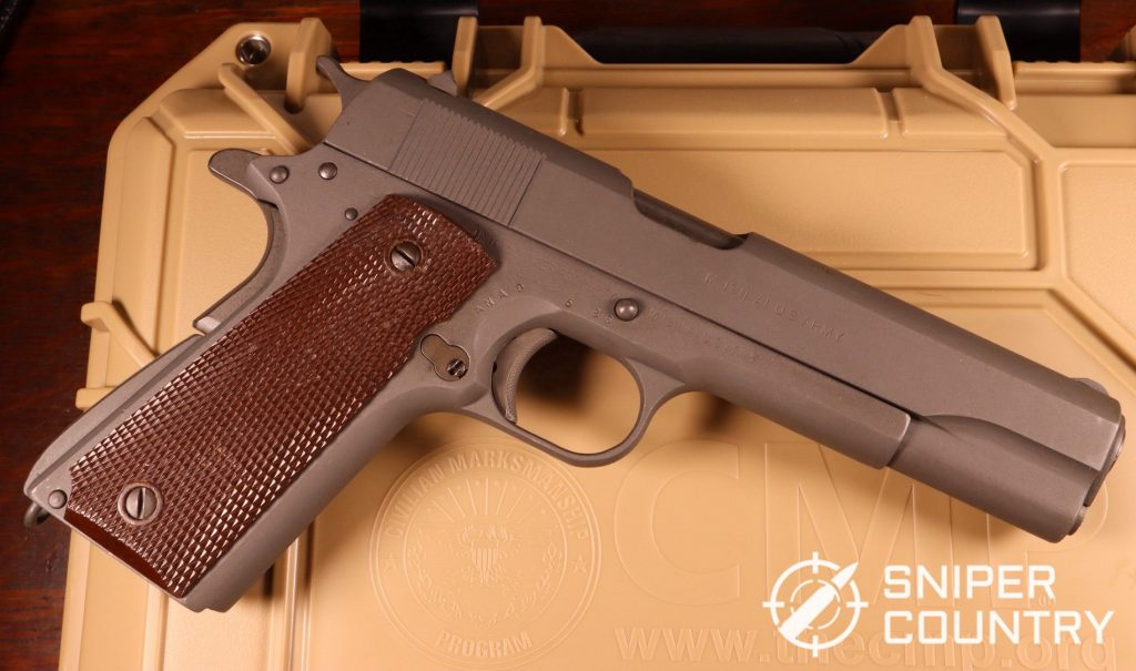 My CMP Remington Rand M1911A1 pistol! A thing of beauty, she was originally shipped to the Springfield Armory in 1943 and was subsequently reworked at the federal armory in Anniston, Alabama in 1986.