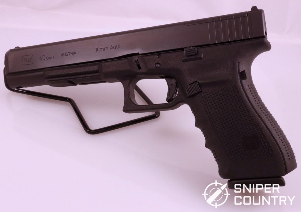 The Glock 40 Gen 4 MOS. The big Austrian's style is take-it-or-leave-it, but this gun packs a serious punch.