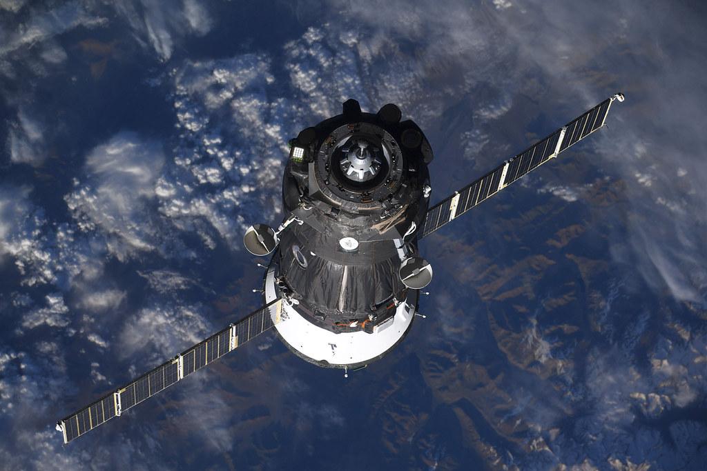 Soyuz approaching International Space Station