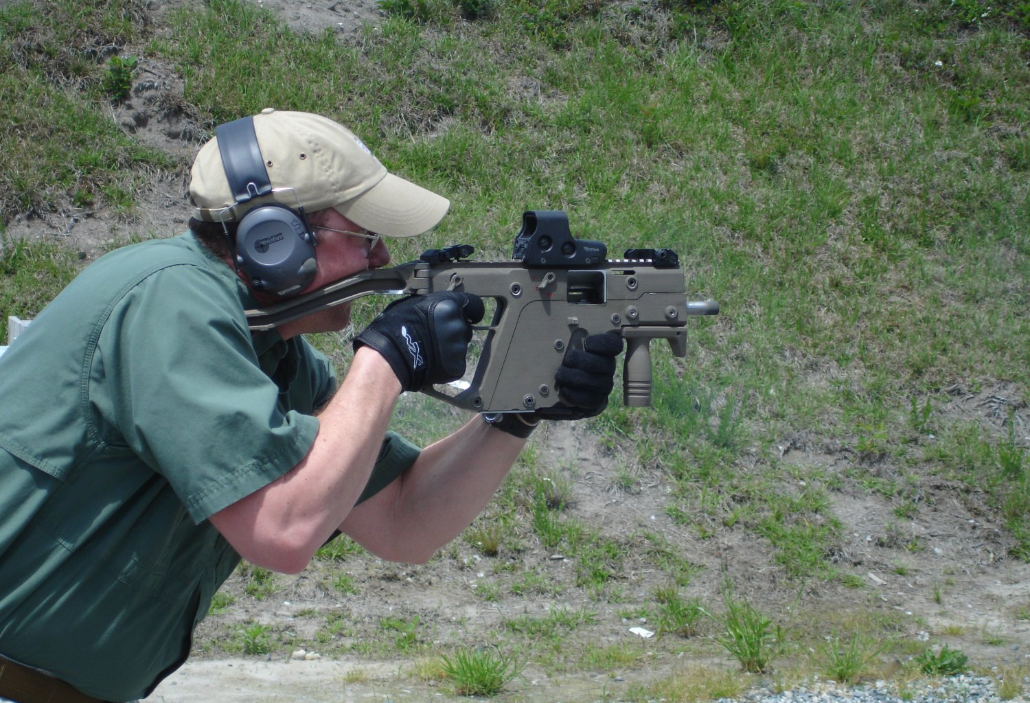 KRISS Vector SMG A Man Using The KRISS Vector SMG