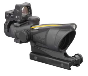Trijicon Acog ar 15 scope red dot combo