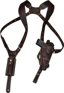 XCH Leather Shoulder Holsters 1911 Vertical Horizontal