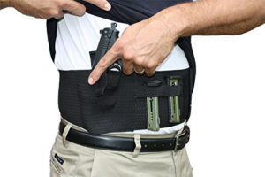 AlphaHolster Belly Band Gun Holster with Dual Magazine Pouch