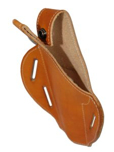 Barsony Saddle Tan Leather Concealment Pancake Holster