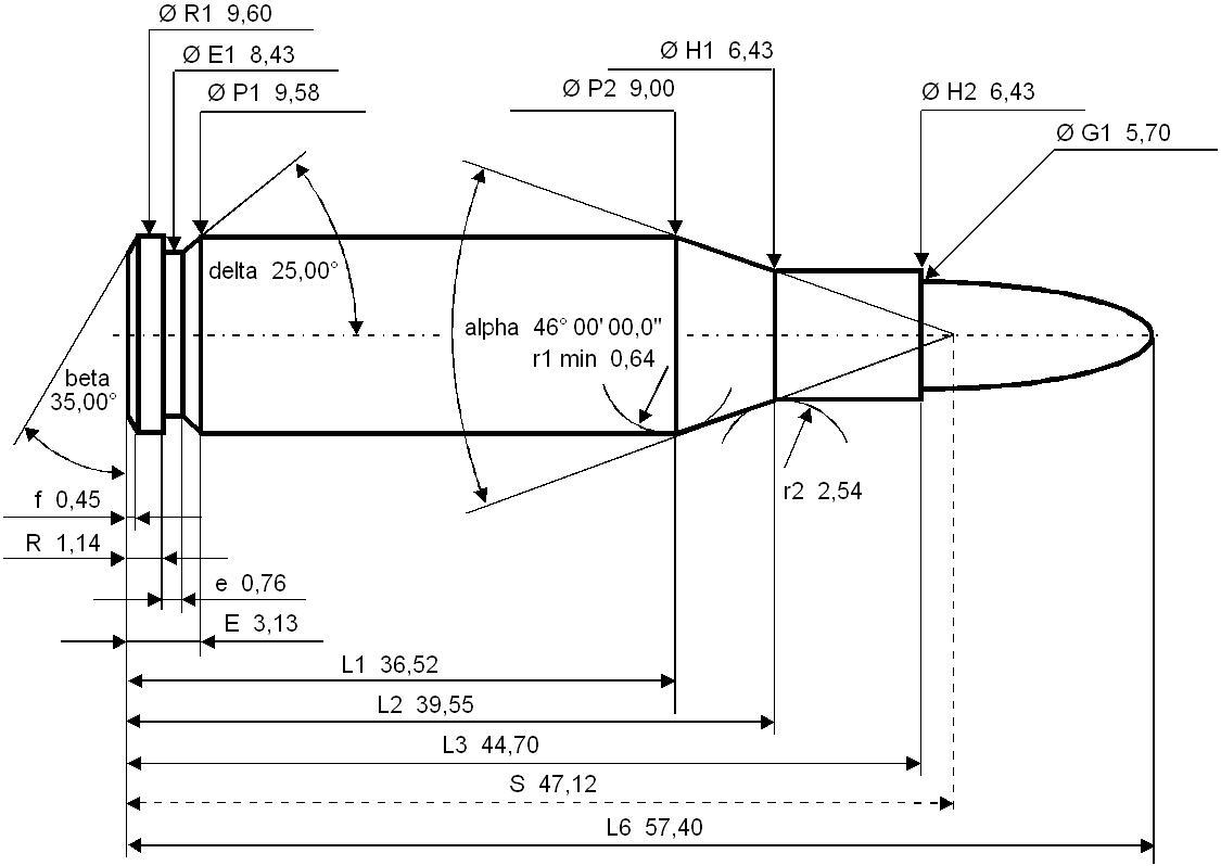 5,56 × 45 mm NATO detailed