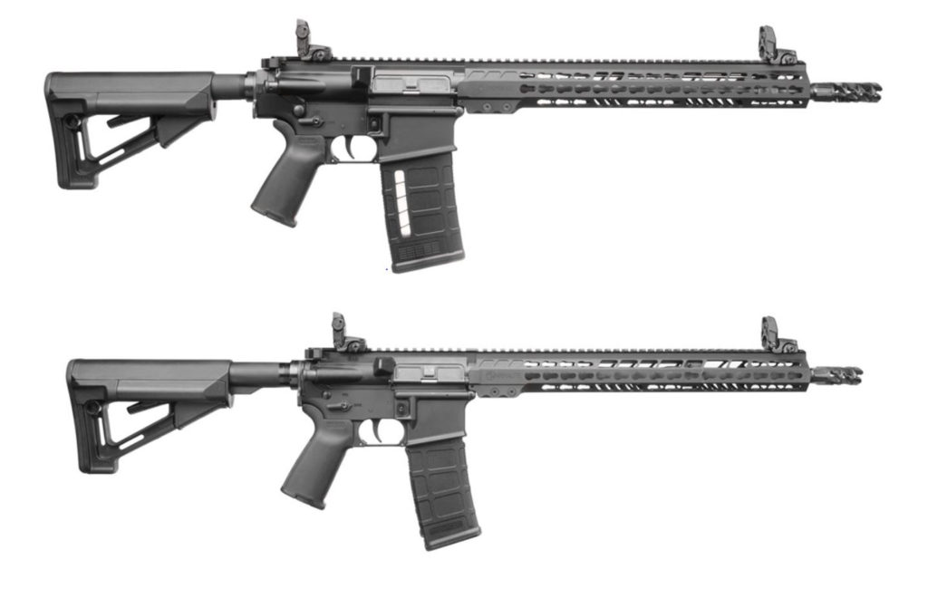 AR-10 and M-15 rifles
